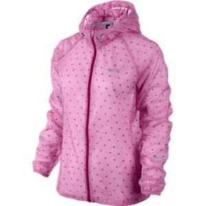 Nike Packable Running Jacket Pink Size Small